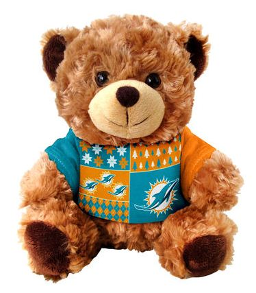 Miami Dolphins Ugly Sweater Bear Skiitz Your Happy Place