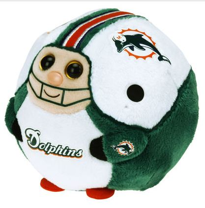 Miami Dolphins Ty Beanie Ballz Skiitz Your Happy Place