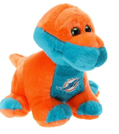 Miami Dolphins 8 Plush Brontosaurus Skiitz Your Happy Place